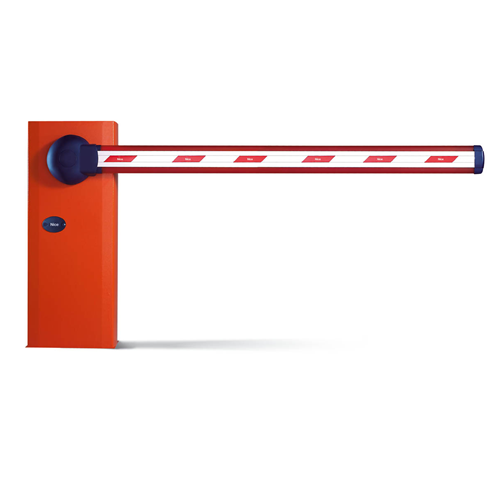 red and white stainless steel and aluminium fibre boom barrier rs