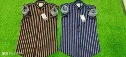 Casual Stripes Men Shirts