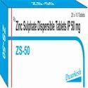 Zinc Sulphate Dispersible Tablets