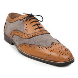 Buwch Mens Designer Leather Brogue Shoe