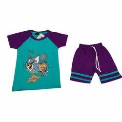 Hosiery And Printed Kids T Shirt Set