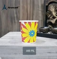 Aravali Printed 200ml Paper Cup, For Event and Party Supplies