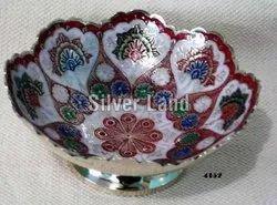 Gold Flower Brass color bowl, For Gift