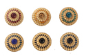 Fancy Designer Stone & Meena Work Buttons