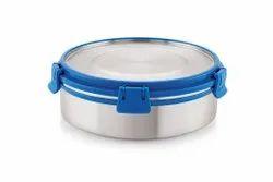 圆形蓝色马格纳斯豪华斜角锁不锈钢容器5号,厨房,容量:1350毫升