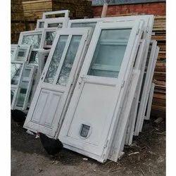 Clear Glass UPVC Hinged Door, 5 Mm