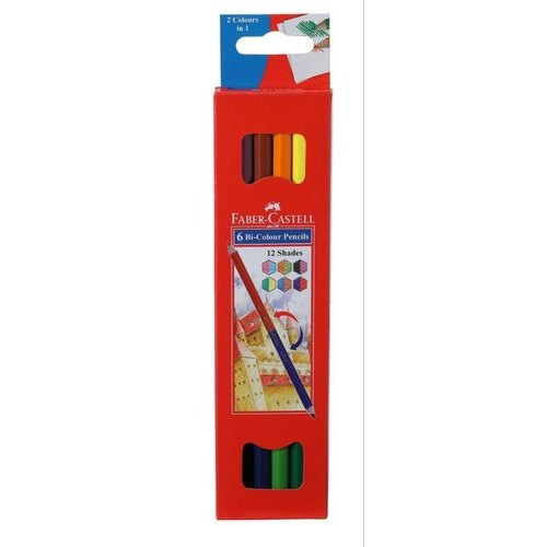 Faber Castell Box 6 Bi Color Pencil