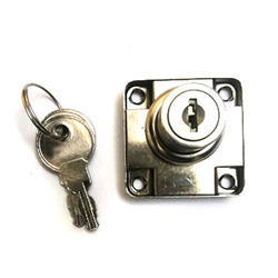 Furniture Drawer Lock, For Cabinet Doors And Drawers, Nickel