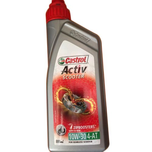 Active Cleansing Technology Bike 10W-30 Castrol Activ Scooter Engine Oil, 20 Pieces, Unit Pack Size: 800 Ml