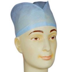 Sky Blue Disposable Polypropylene Surgical Cap, For Hospital, Packaging Type: Packet