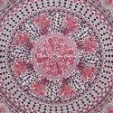 Pink Purple Floral Parrot Mandala Duvet Quilt Cover