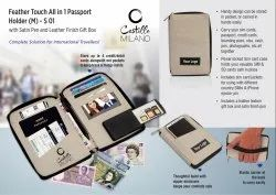 S01 - Feather Touch All-in 1 Passport Holder (M) (With Pen)