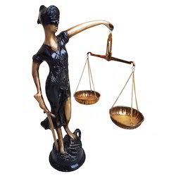 Brass Justice Lady
