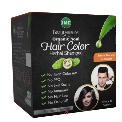IMC Organic Noni Hair Color Shampoo, Packaging Type: Box, Packaging ...
