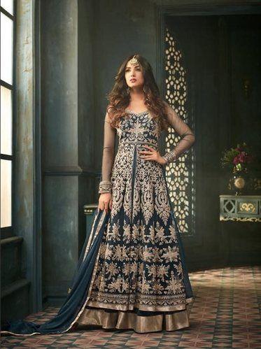 Net Bridal Wear Indian Ethnic Designer Heavy Embroidered Bridal Wear ...