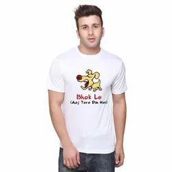 Round Neck Mens Printed T Shirt