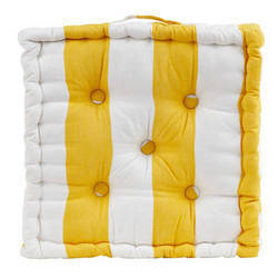 Yellow Striped Box Cushion