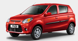 Blue And Silver Maruti Suzuki Alto 800 Car