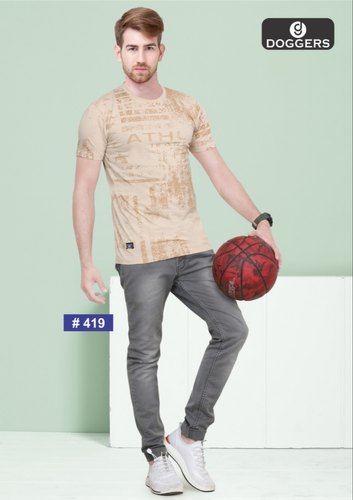 Men's Round Neck Printed T-Shirt's