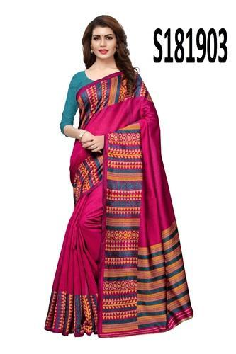 996af5c32 Cotton Printed Saree With Blouse