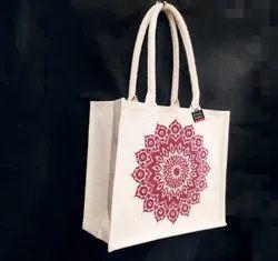 Laminated Canvas Box Bag