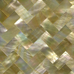 Gold Mother Of Pearl Tile, 1-2 Inch