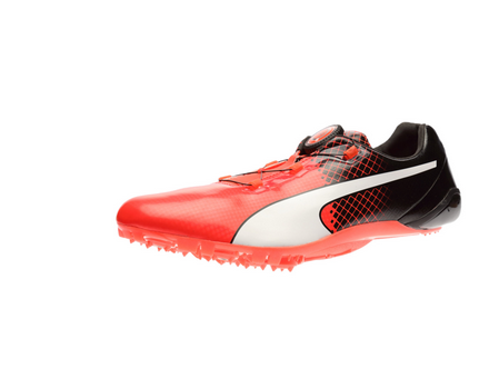 1481aba344d9 Puma Orange Bolt Evospeed Disc Tricks Running Shoes