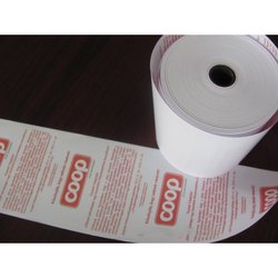 White Printed Thermal Paper Roll, GSM: 75 GSM