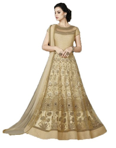 9c654ffa1aa Georgette Embroidered Fancy Semi-Stitched Anarkali Suit