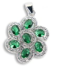 Green Emerald Pendant Jewelry