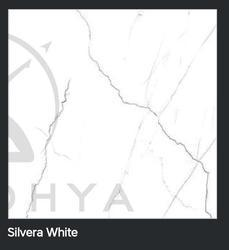 Silvera White Polished Glazed Vitrified Tile