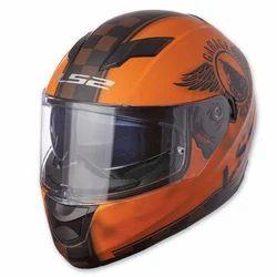 Orange Base Fiberglass LS2 Helmet