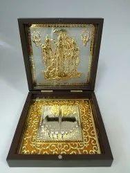 Ram Darbar Gold Plated Photo Frame Box