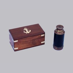 Brass Telescope with Wooden Gift Box