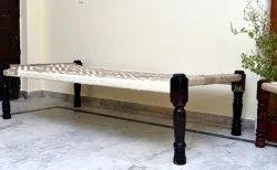 Brown JAE Wooden Charpai / Cot / Khaat / Bed Khatiya, Size: 6*3 Foot