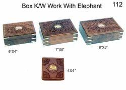 Walnut Rectangle Wooden Box Kashmiri Work, For Gifts, Size: 6x4,7x5 Inch