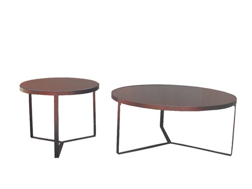 Brown Ks International Cage Large Small Round Coffee Table With Black Glass Top Size Na Rs 3500 Set Id 20925889230