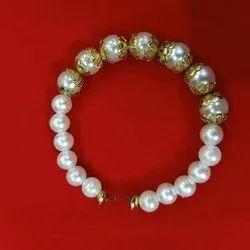Designer White Pearl Bracelet