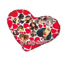 Heart Shape Pillow Photo Printed Services