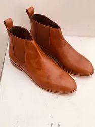 Women Tan Ladies Boots, Box, Size: 38