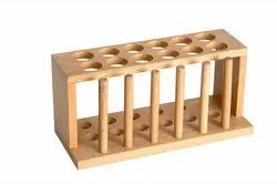 Test Tube Rack With Drying Pegs