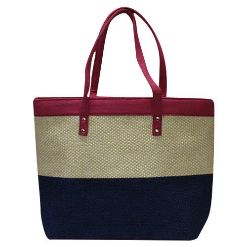 eb233b0baf Jute cotton Plain Jute Ladies Handbags