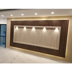 Pure White LED Wall Paneling Light Design