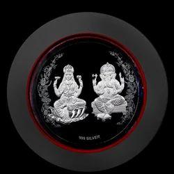 Lakshmi Ganesh Round Photo Frame