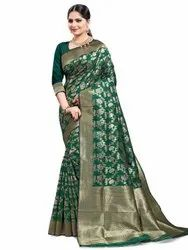 Glitzy Art Silk Saree With Blouse By Parvati Fabric (21834)