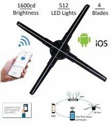 Speed 3D Hologram Fan Advertising Display LED Fan 50CM 4 Blades, 512 LED , 720x720 Resolution
