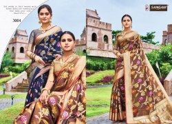 Sangam Launch Vijyapuram Handloom Silk Traditional Wear Saree Dealer In Surat