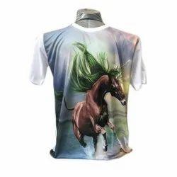 Mens Round Neck Polyester Designer T Shirt