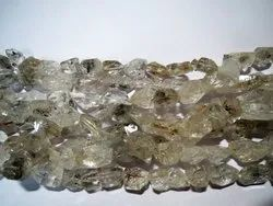 Herkimer Diamond Raw Nugget Tumble Stone Beads