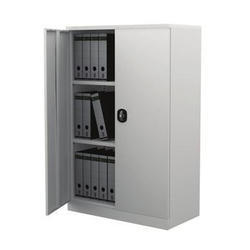 Grey Hinged Door Office Cupboard